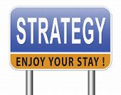 strategy for business and marketing planning used method and plan road sign billboard 3D, illustrati poster