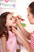 pic of face painting  - Child preschooler with face painting - JPG