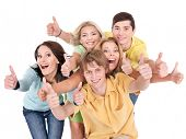 image of teenage boys  - Group of people on white - JPG