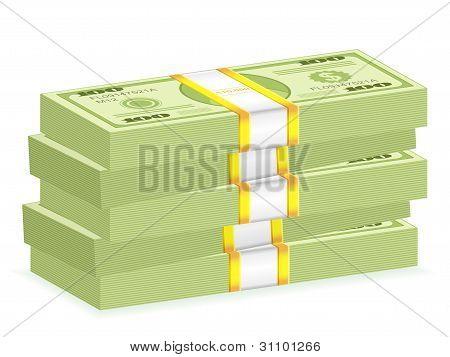 Dollar Wad Stack