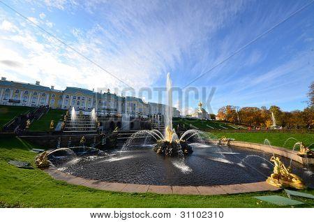 Fountain pond
