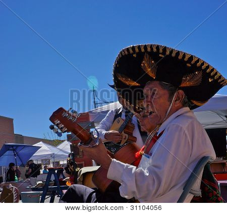 Mariachi Sings At Street Fair