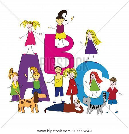 Abc, Happy Kids, Back To School