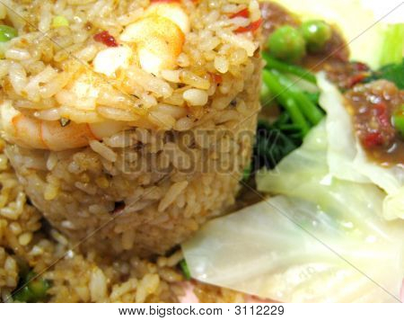 Thai Spicy Fried Rice With Shrimp