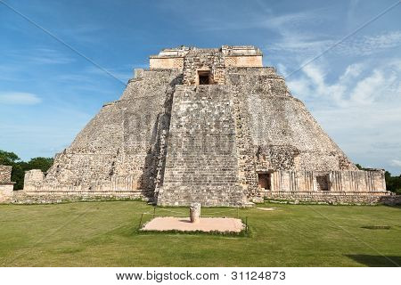 Pyramid of the Magician in Uxmal, Mexico