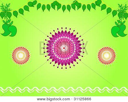 Indian festival decoration design