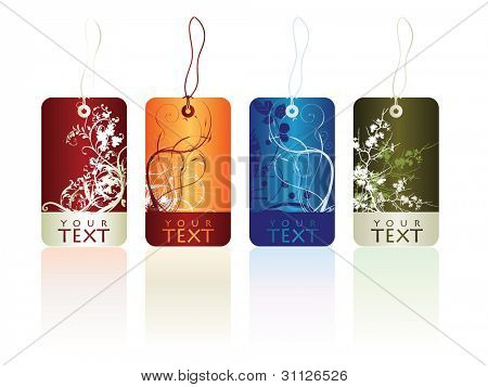 glossy abstract stickers