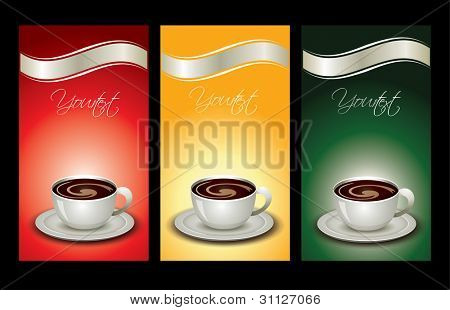 Colorful coffee package set. For more see my portfolio