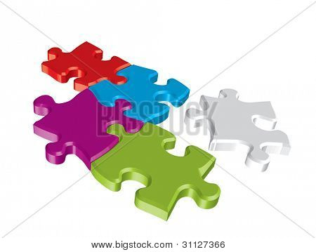 Colorful vector puzzle
