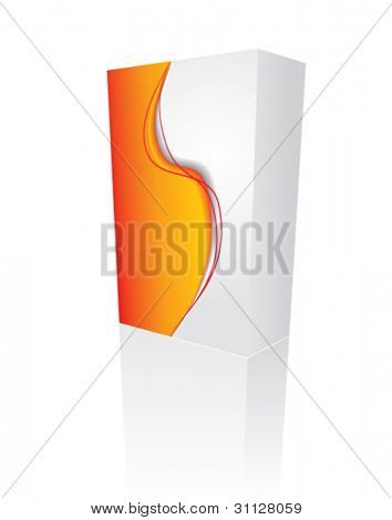 VECTOR red 3D box