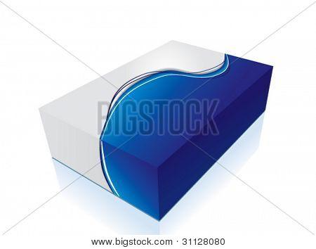 VECTOR 3d blue box