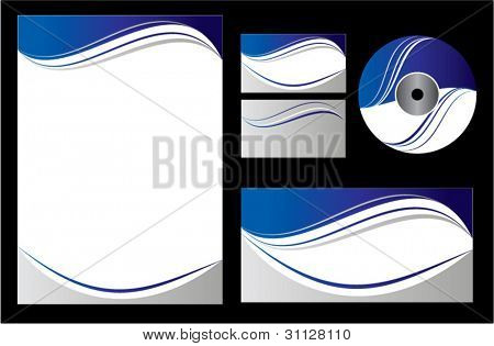 Blue company vector set. Editable.