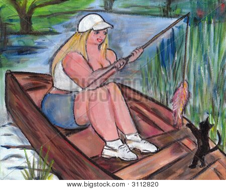 Big Beauty Goes Fishing