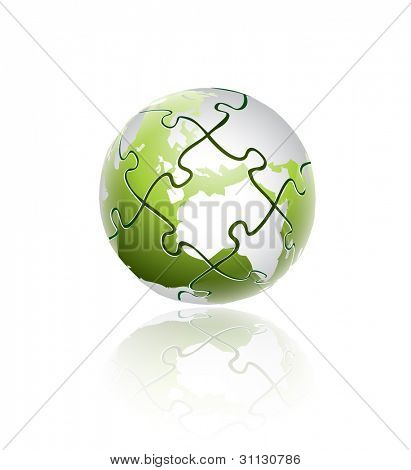 Natural Green Globe Puzzle