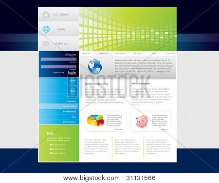 Business website template in editable vector format