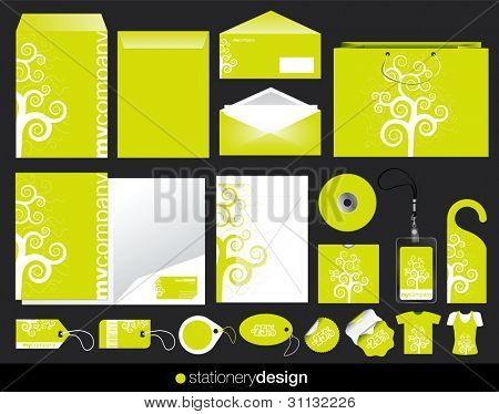 Stationery design set in modern look