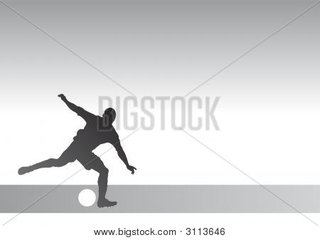 Stricker Silhouette 1A - Kicking A Soccer Ball