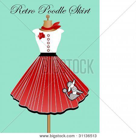 Retro poodle skirt