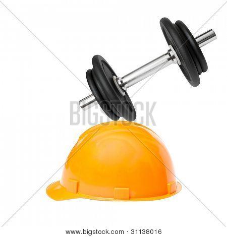 Halteres cai sobre um edifício capacete