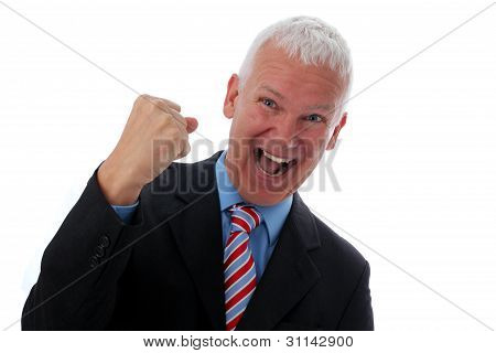 Businessman Crazy With Fist