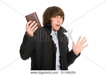 Panic frightened young man gave his wallet the alleged robber.