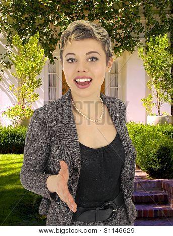 Real Estate Saleswoman