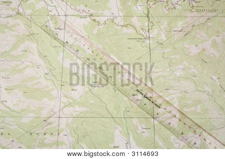 Topo Map And Ruler