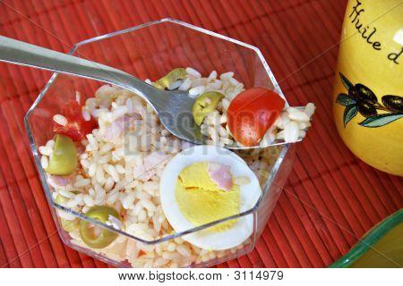 Rice Salad In A Transparent Bowl 3