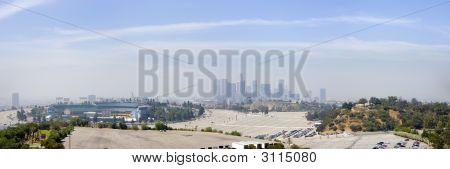 Los Angeles Downtown Skyline Horizontal Panoramic