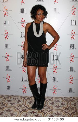 LOS ANGELES - MAR 16:  Tatyana Ali arrives at the Young & Restless 39th Anniversary Party hosted by the Bell Family at the Palihouse on March 16, 2012 in West Hollywood, CA