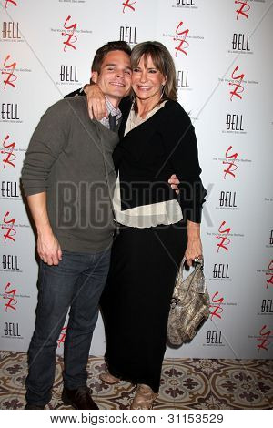 LOS ANGELES - MAR 16:  Greg Rikaart; Jess Walton arrives at the Young & Restless 39th Anniversary Party hosted by the Bell Family at the Palihouse on March 16, 2012 in West Hollywood, CA