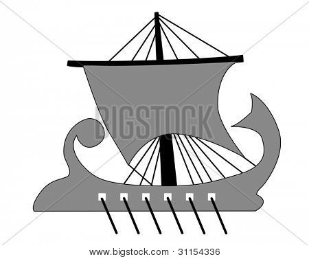 galley silhouette on white background