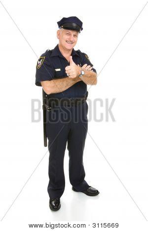 Policeman Full Body Thumbsup
