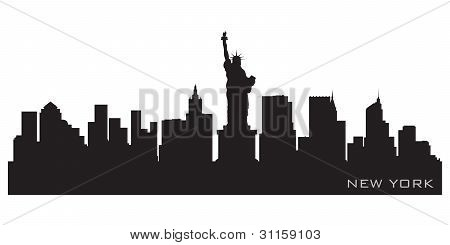 New York Skyline. Detailed Vector Silhouette