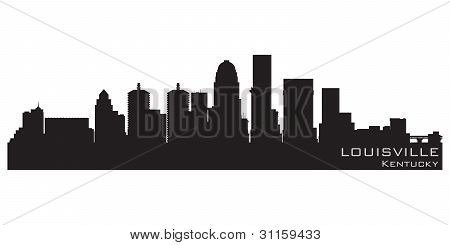 Louisville, Kentucky Skyline. Detailed Vector Silhouette