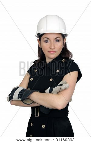 Beautiful Female Construction Worker (3)