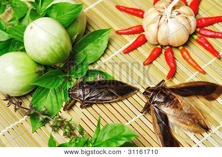 Ingredients For Giant Water Bug Chili Sauce