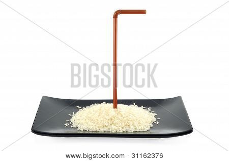 Rice Germ On Dish