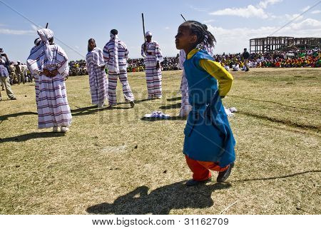 Ethiopian Children Dancing At The 20Th World Aids Day