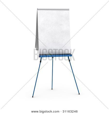 rotafolio en blanco