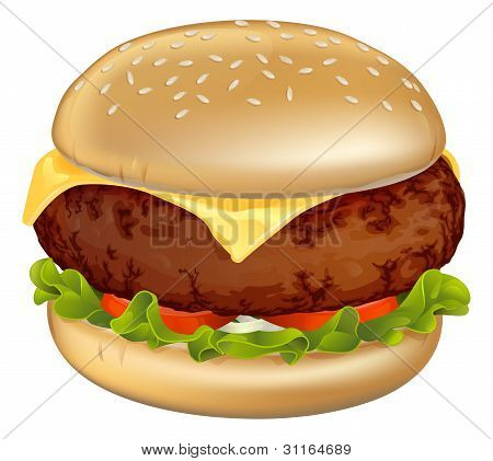 Hamburger illustratie