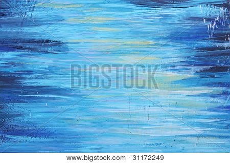 Blue Abstract Brush Picture