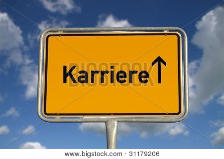 German Road Sign Career