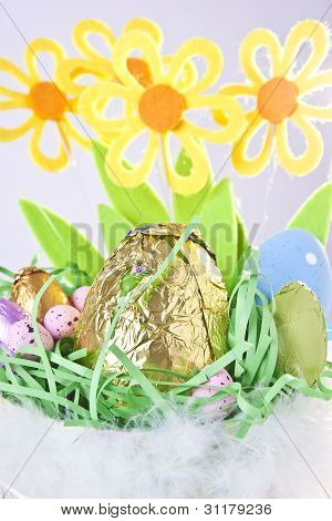 Close-up Of Easter Basket