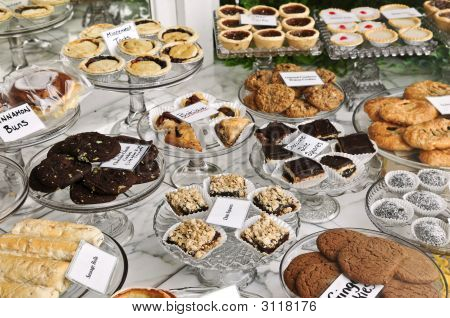 Desserts In Bakery Window