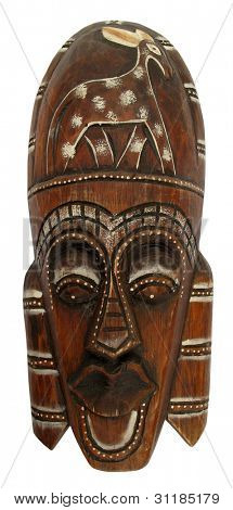 Wooden brown ritual mask