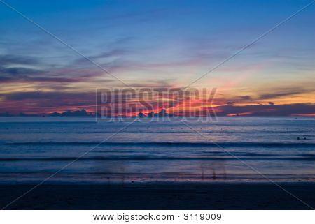 Empty Sunset At Patong Beach
