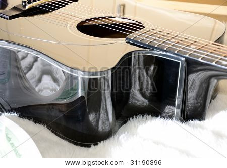 black accoustic guitar