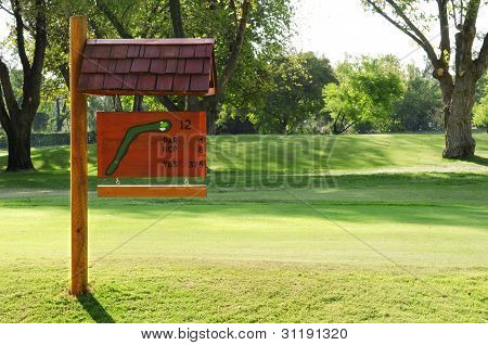 Sign On The Golf Course