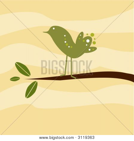 Circle Bird On Limb